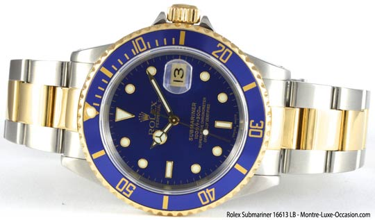rolex submariner 16613 occasion montre luxe. Black Bedroom Furniture Sets. Home Design Ideas