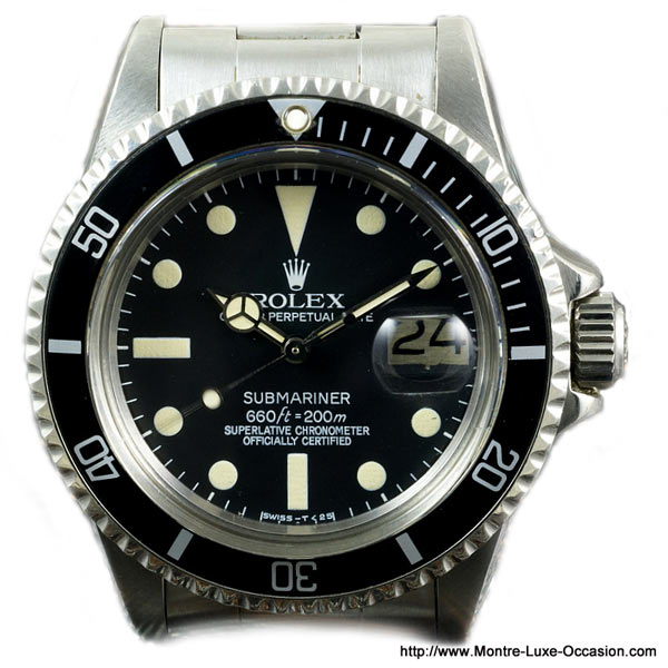 rolex submariner 1680 occasion montre luxe. Black Bedroom Furniture Sets. Home Design Ideas