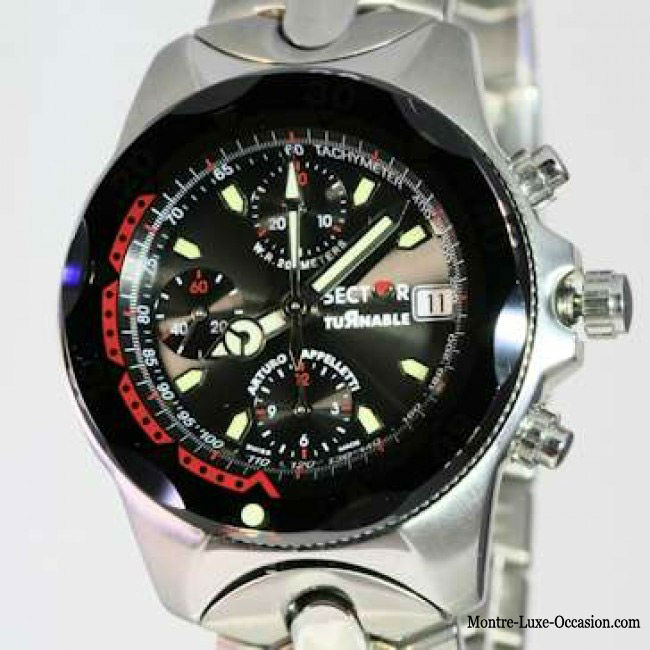 montres sector occasion chronographes automatiques. Black Bedroom Furniture Sets. Home Design Ideas