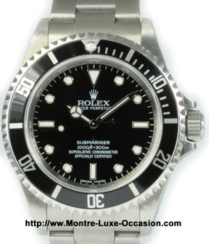 rolex submariner 14060 occasion montre luxe. Black Bedroom Furniture Sets. Home Design Ideas