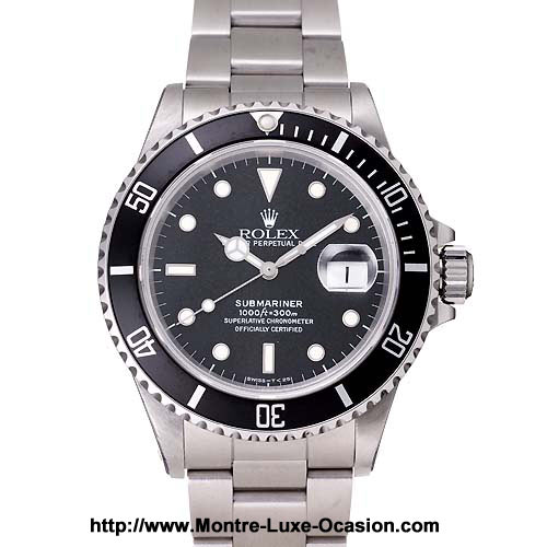 rolex submariner 168000 occasion montre luxe. Black Bedroom Furniture Sets. Home Design Ideas