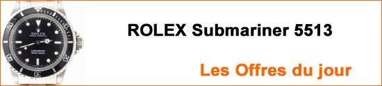 Montres ROLEX Submariner 5513 Occasion : Les Offres du jour