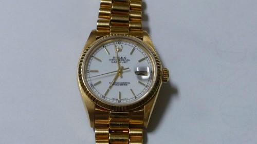 ROLEX Date - Or jaune 18 Cts - Bracelet Président or jaune