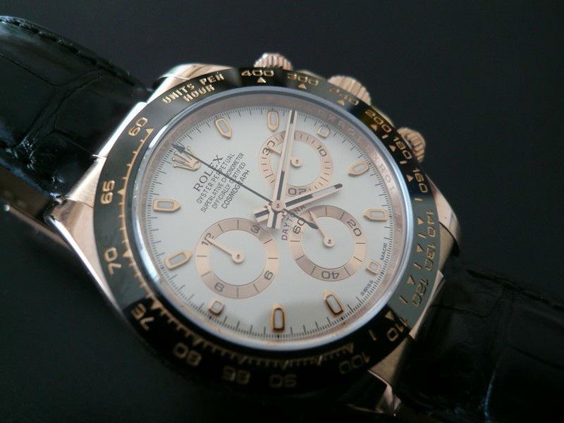 ROLEX Daytona Or Rose Lunette Ceramique