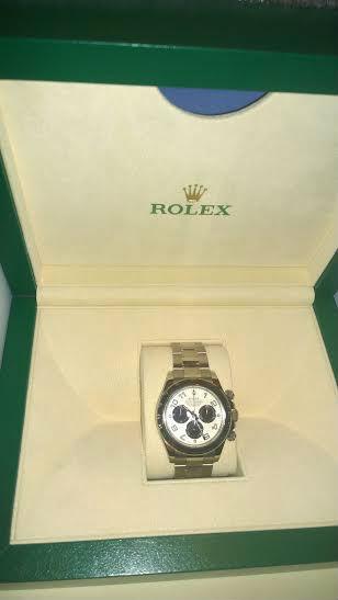 ROLEX DAYTONA OR BLANC Cadran Panda Année 2015 B/P