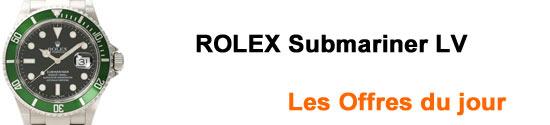 Montres ROLEX Submariner Lunette Verte Occasion - Sub lv