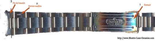 Codes de bracelet Rolex